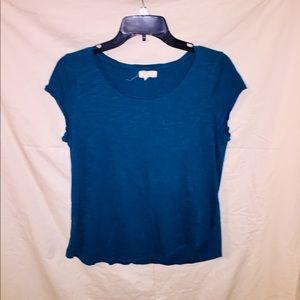 Blue Short Waisted Shirt.